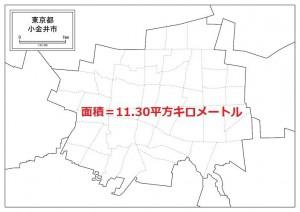 小金井市の面積