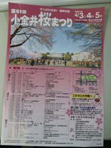 小金井桜まつり2015